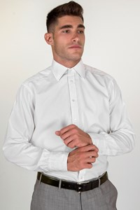 Turnbull & Asser White Cotton Shirt / Size: 16-41 - Fit: M (Loose)